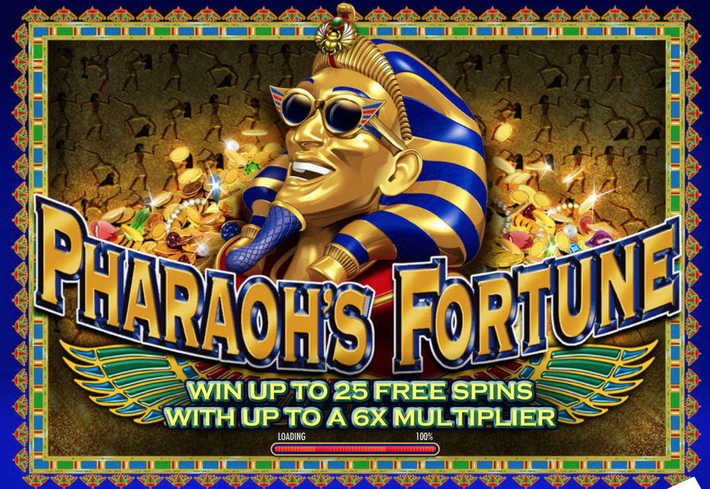 Pharaoh's Fortune opening screen