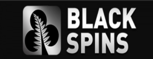 black spins casino logo