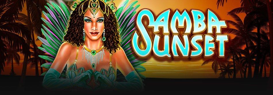 samba sunset casino slot logo