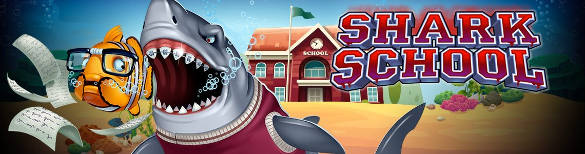 shark school slot logo