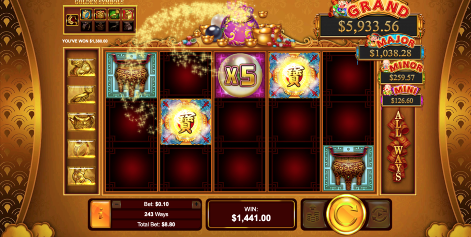 plentiful treasure slot gameplay